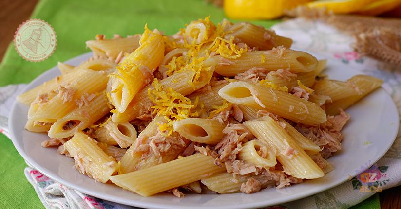 Pasta tonno e limone ricetta primo piatto veloce for Primo piatto veloce