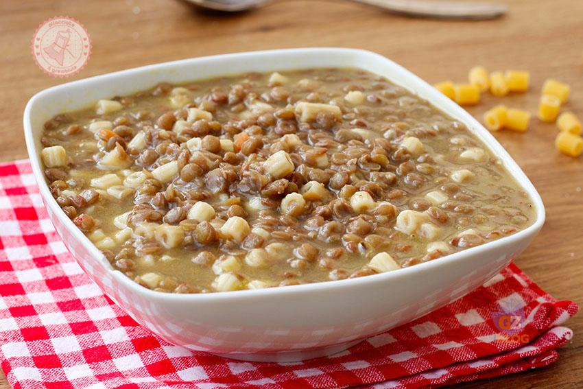 Ricetta Lenticchie Senza Pomodoro.Pasta E Lenticchie Ricetta Della Nonna Con Ingrediente Segreto