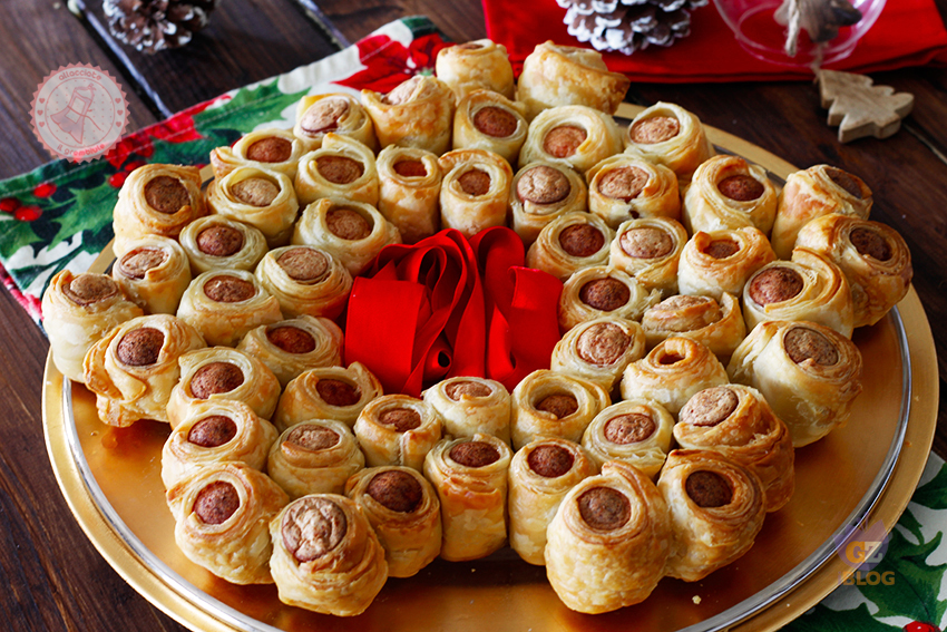 Antipasti Di Natale Wurstel.Stella Di Natale Di Pasta Sfoglia Ricetta Antipasto Velocissimo