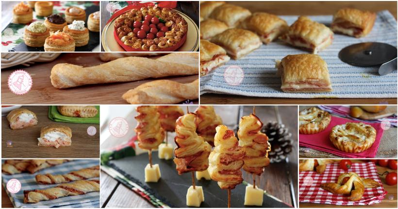 Antipasti con la pasta sfoglia per natale ricette facilissime for Ricette facilissime