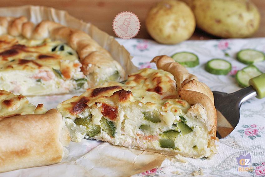 Ricetta Quiche Salmone E Zucchine.Torta Salata Al Salmone E Zucchine Ricetta Facile E Veloce