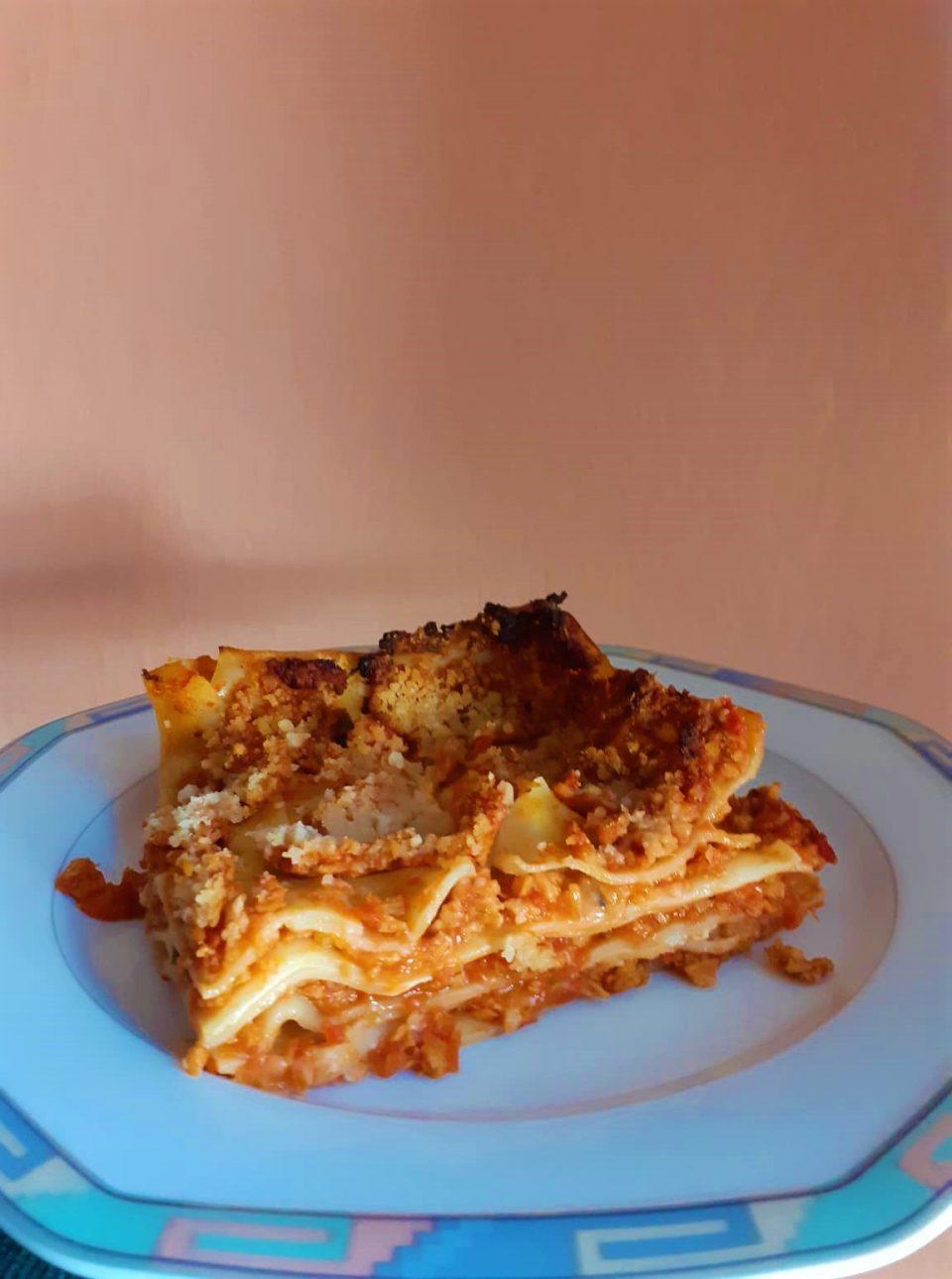 Ricetta Lasagne Vegane.Lasagna Vegana Al Ragu Di Soia Alla Faccia Degli Onnivori