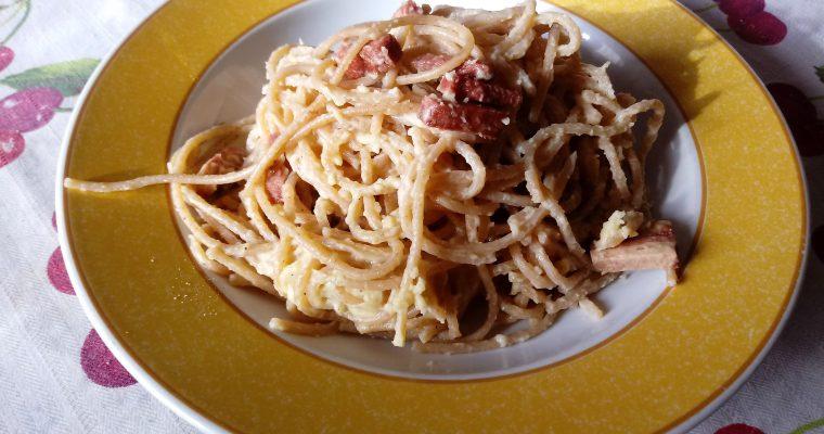 Spaghetti alla Carbonara vegana
