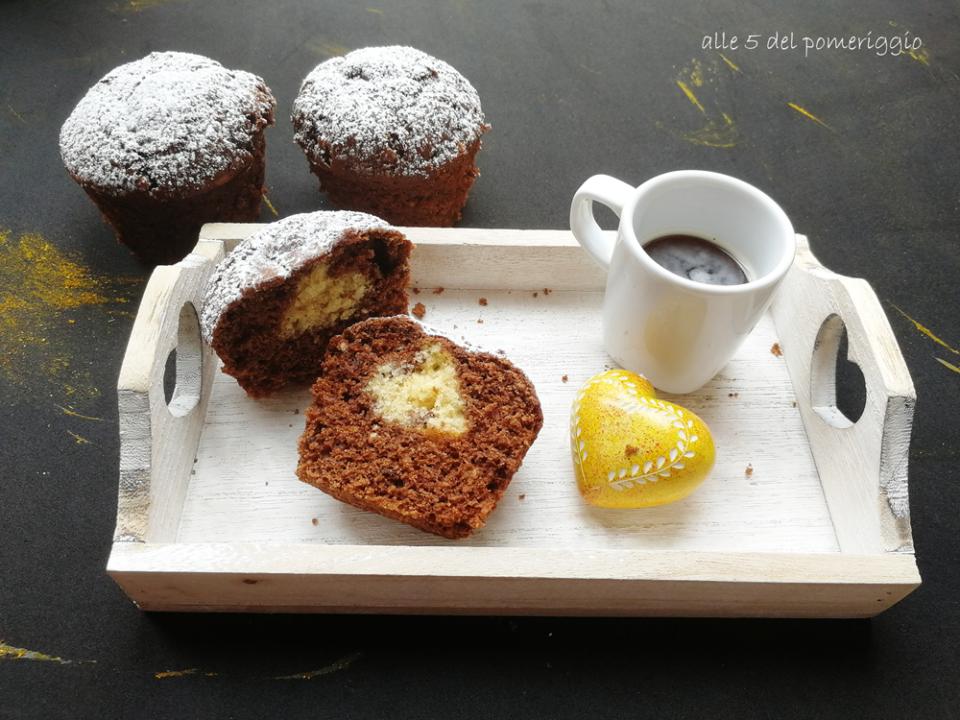 muffin con sorpresa a cuore