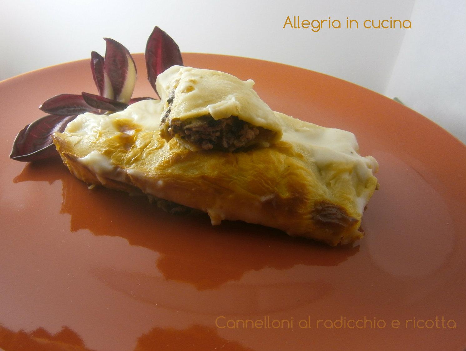 Cannelloni al radicchio e ricotta / Pasta fresca ripiena