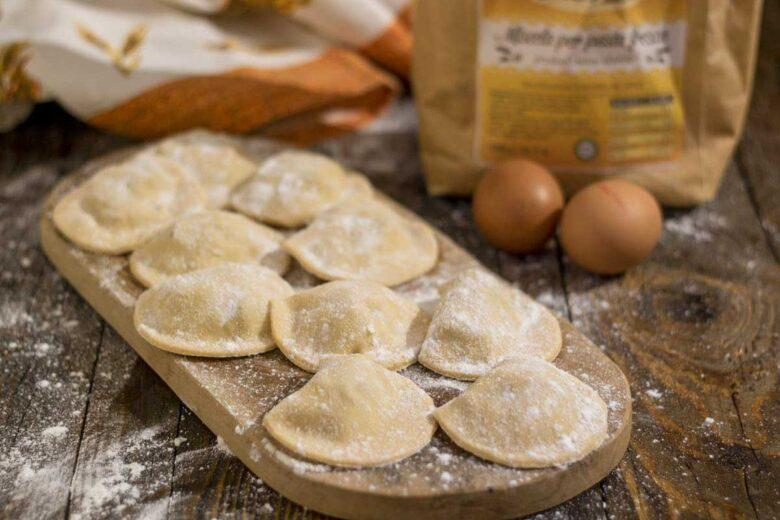 Ravioli senza glutine salsiccia e ricotta