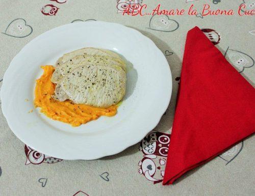 Fettine di Suino con salsa di carote e patate