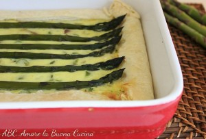 torta salata asparagi e speck