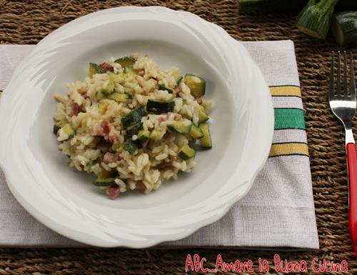 Risotto con Zucchine e Pancetta