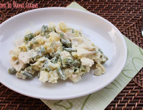Insalata Ricca con Fagiolini, Patate e Petto di Pollo
