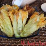 Fiori di zucca fritti con pastella