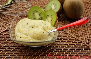 crema di kiwi e ricotta