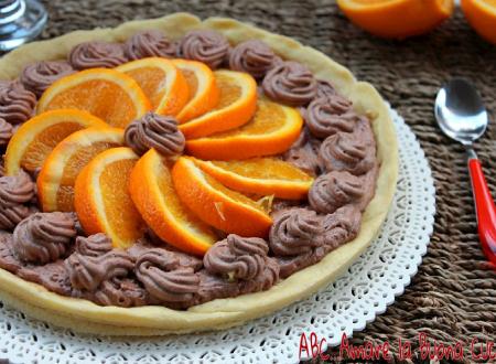 Crostata con mousse al cioccolato e arance