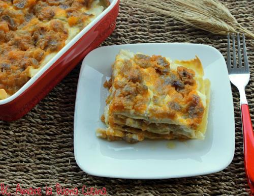 Lasagne di zucca e salsiccia
