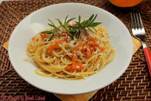 spaghetti con zucca e ricotta salata
