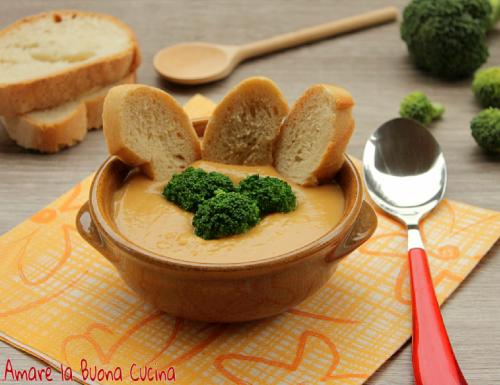 Crema di ceci con broccoli e pane tostato