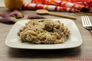 risotto con carciofi e salsiccia 2