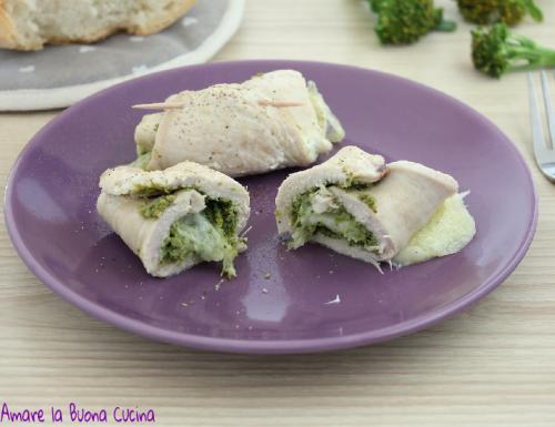 Involtini con crema di broccoli e mozzarella