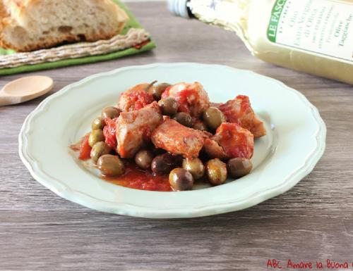 Bocconcini di pollo con olive taggiasche
