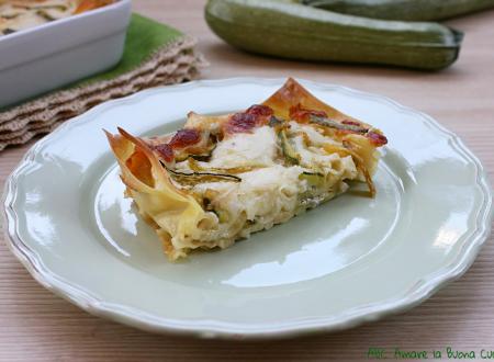 Lasagne con zucchine e scamorza