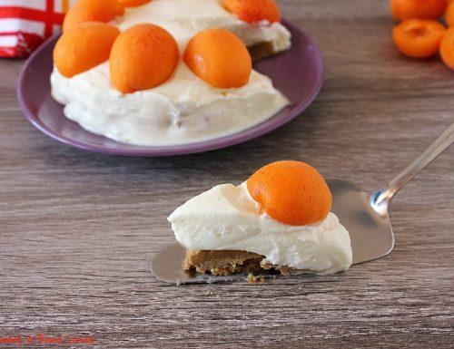 Cheesecake con albicocche, ricetta senza colla di pesce