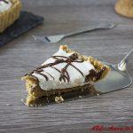 Crostata con crema di ricotta e Nutella - ricetta senza cottura