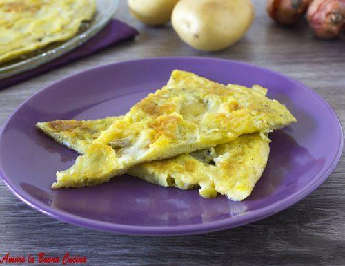 Frittata con patate, scalogno e gorgonzola