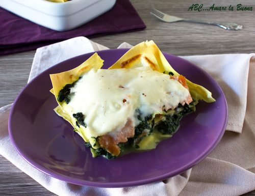 Lasagne con spinaci e salmone