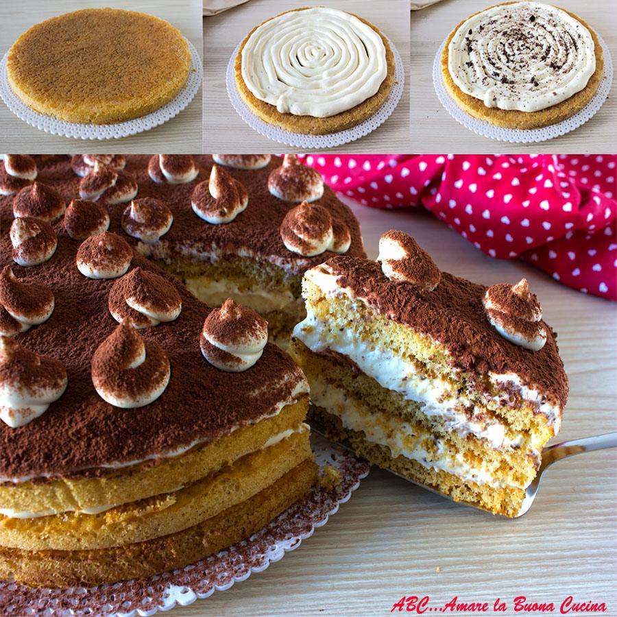 torta tiramisu collage