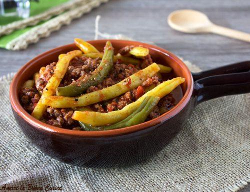 Fagiolini in umido con carne macinata