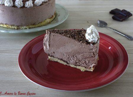 Torta semifreddo al cioccolato con pandoro - ricetta senza uova