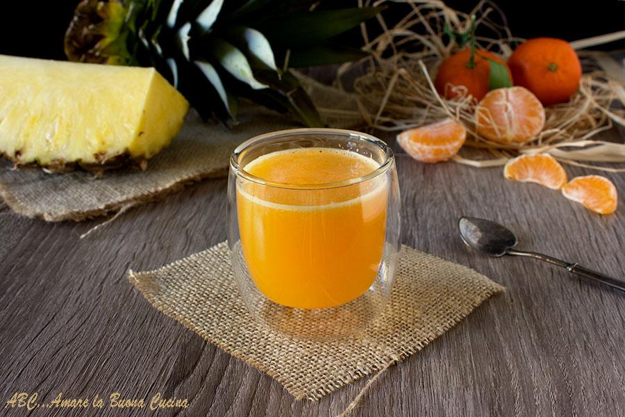 Centrifuga di ananas e mandarini
