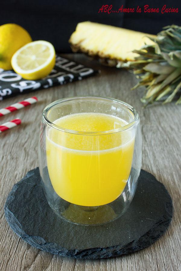 centrifuga di ananas, limone e zenzero 2