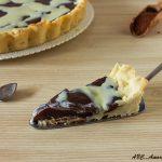 Crostata variegata al cioccolato