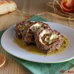 Girelle di carne con prosciutto e formaggio