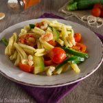 Pasta zucchine gamberetti e pomodorini