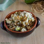 Insalata di riso con zucchine e melanzane