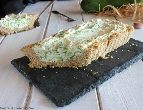 Cheesecake con zucchine