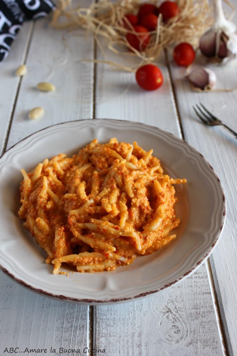 pasta con pesto alla siciliana 2
