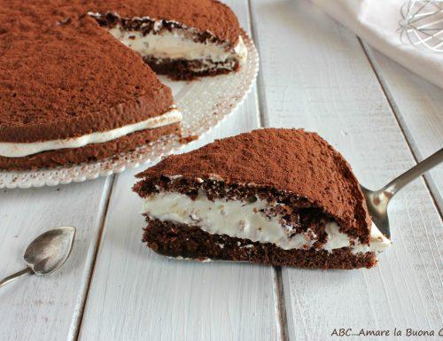 Torta al cacao con crema di mascarpone e Nutella