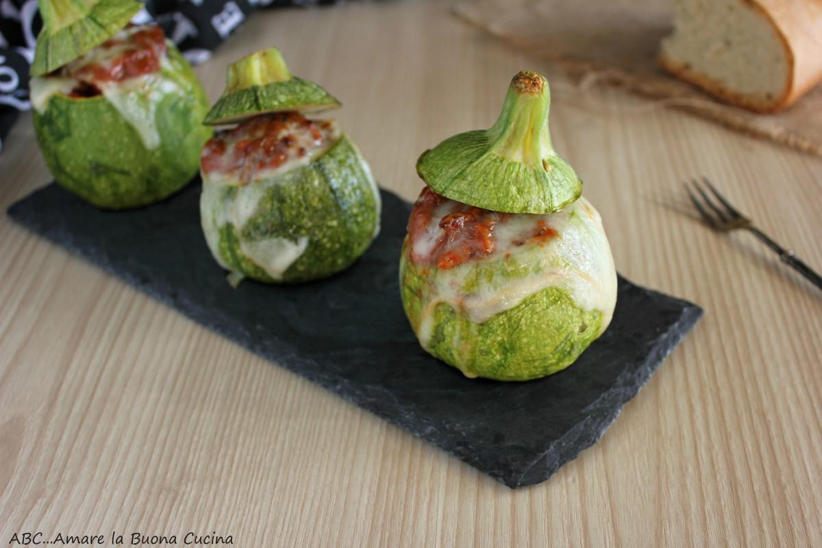 zucchine ripiene di carne