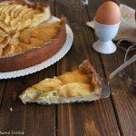 Crostata con crema e mele