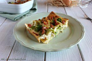 lasagne con broccoli e pancetta 2