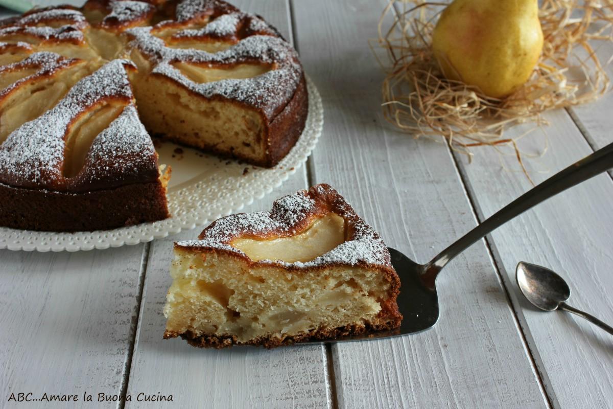 torta con ricotta e pere