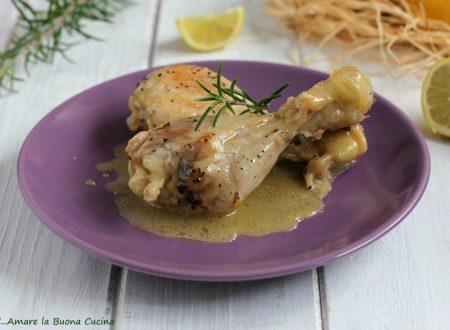 Cosce di pollo al limone con miele e rosmarino