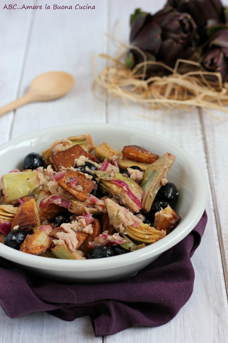 insalata di carciofi, patate e tonno 2