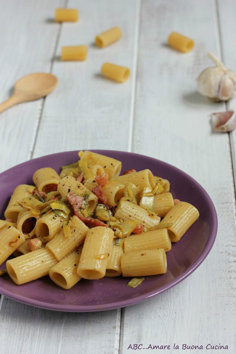 pasta con carciofi e pancetta 2