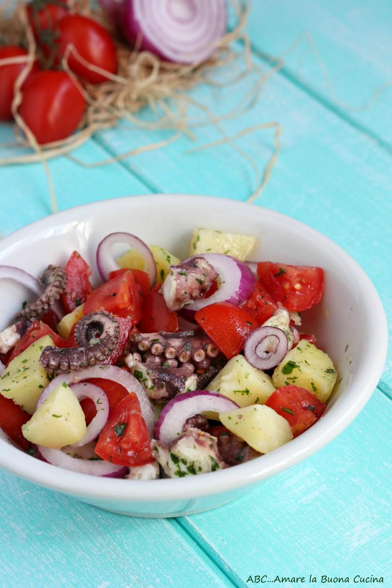 insalata di polpo con pomodorini e cipolla rossa 2
