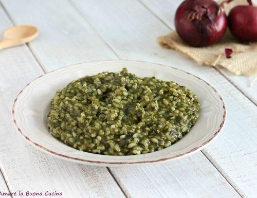 Risotto con spinaci