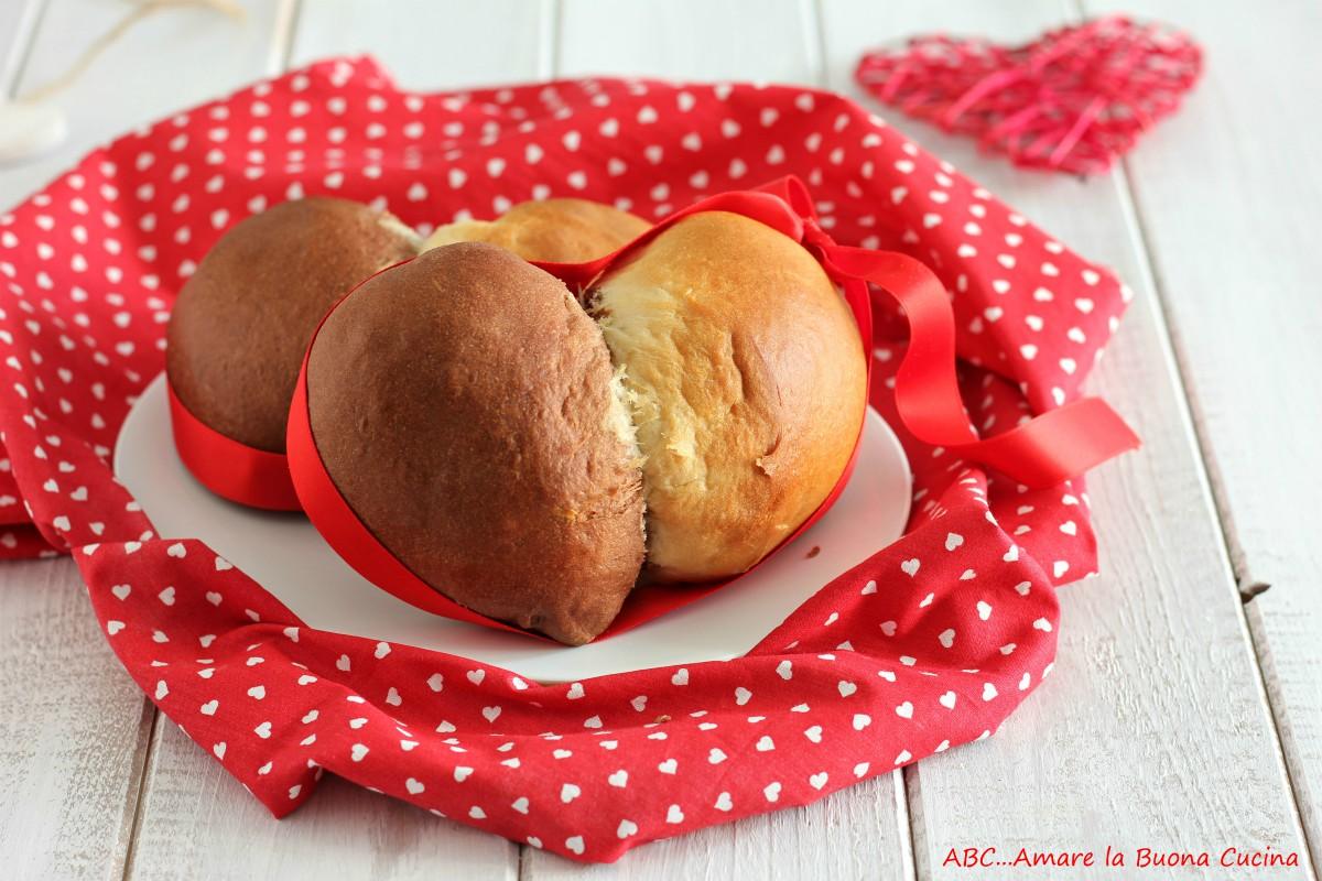 cuori bicolore di pan brioche